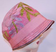 http://www.ebay.com/itm/Art-Deco-Pink-Silk-Burnout-Voided-Velvet-Floral-Quilted-Flapper-Cloche-Hat-Vtg/371088840164?_trksid=p2045573.c100034.m2102