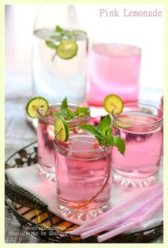 Delicious and simple lemonade is transformed with the addition of rose syrup.