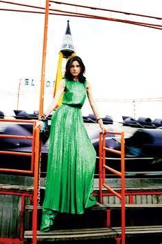 #Elie Saab   Green dresses #2dayslook #green style #greenfashion  www.2dayslook.com