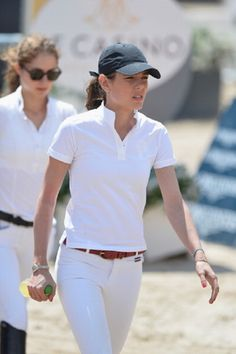 Charlotte Casiraghi attends the Special Invitational (1.30m) race during the International Monte-Carlo Jumping at Port Hercule on 27.06.2014 in Monaco, Monaco.