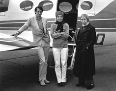 Jackie Kennedy Onassis at Greenville Maine airport in 1982. Berenice Abbott also in picture, not sure who the man is. Visit Moosehead Memories on Facebook, Twitter YouTube