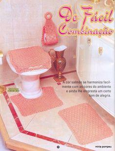 Jogos de Banheiro em Crochê  ❤️LCB-MRS❤️ with diagram.