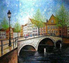 SPRING TIME,.... Oil on canvas 120x120cm                   by Daniel de Quelyu.