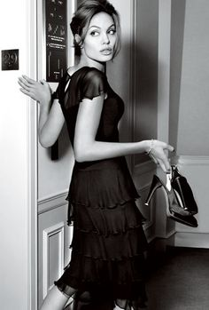Angelina Jolie- love this shot- but I can't help it- I just don't love *her*