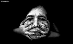 """ph. © Paulo Gomes """" The face of a woman with the hands of a child touching"""""""