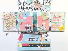 true colors scrapbook Mini Album Scrapbook, Mini Albums Scrap, Scrapbook Cards, Snail Mail Pen Pals, Pen Pal Letters, Mini Books, Flip Books, Fun Mail, Happy Mail