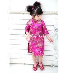 2017 Baby Girl Summer Dress kid clothing Embroidery Floral Traditional Chinese Cheongsams Qipao for Party New Year #Affiliate
