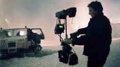 Steadicam operator and inventor Garrett Brown films actors Shelley Duvall and Danny Lloyd climbing into the Sno-Cat at the end of The Shining. Danny Lloyd, Stanley Kubrick The Shining, Camera Movements, Cinema Camera, Film Inspiration, Pre Production, Video Film, Film Director, Screenwriting