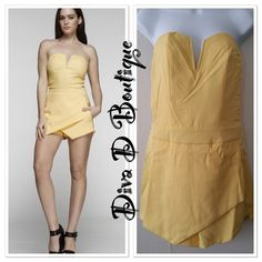 Yellow jumpsuit Beautiful spring/summer sleeveless jumpsuit. Size is a junior small. 100% polyester...Price Firm Unless Bundled. Tea n Cup Shorts