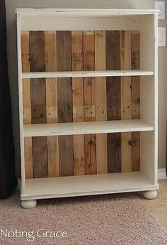DIY Pallet Bookcase - gorgeous effect with the different colours