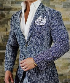 Our Tweed Blu Cascata Jacket is quickly becoming one of our most popular sport jackets today! #sebastiancruzcouture
