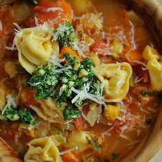 Smoky Minestrone with Tortellini and Parsley or Basil Pesto recipe on Food52