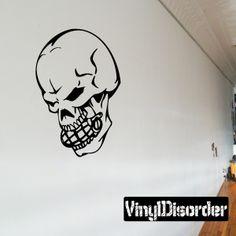 Skull Wall Decal - Vinyl Decal - Car Decal - SM096