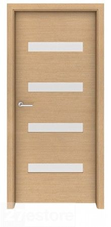 try this door in a bedroom or bathroom and customize it with frosted glass to create