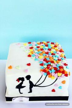 What a cute idea for a wedding cake