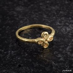 Gold infinity ring pinky ring midi ring mini ring by JunamJewelry