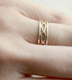 Silver and Gold Stacking Rings - Set of 3