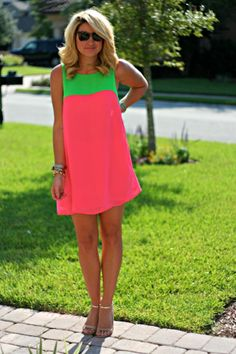 How cute is this Pink  Green Skittles Dress by ASOS? Be sure to visit this blog to be in the know for fashion tips, finds, and suggestions!