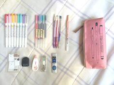 """y-eongu: """" ✨ whats in my pencil case ✨ """""""
