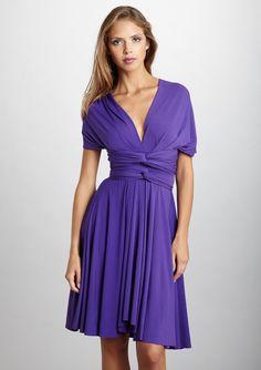 Love pieces that are multi-purpose. Wrap anyway you want. TRANSFORMER BY VON VONNI Short Transformer Dress #purple only $49.99 at ideeli.