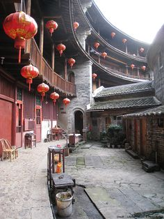The Tulous of Fujian Province, China. Ancient Chinese Architecture, Chinese Buildings, China Architecture, Architecture Office, Architecture Design, Futuristic Architecture, Beijing, Asian Landscape, Community Housing