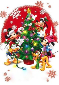 Christmas Tree Cartoon Disney Mickey Mouse 55 Ideas For 2019 Disney Merry Christmas, Disney Christmas Decorations, Mickey Mouse Christmas, Christmas Cartoons, Christmas Art, Christmas Centerpieces, Christmas Gifts, Mickey Mouse Cartoon, Mickey Mouse And Friends