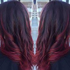 Idées Coupe cheveux Pour Femme  2017 / 2018   21 idées incroyables de couleur de cheveux rouge foncé