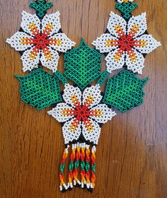 Your place to buy and sell all things handmade Seed Bead Flowers, Beaded Flowers, Floral Flowers, Beaded Crafts, Handmade Beaded Jewelry, Peyote Patterns, Beading Patterns, Seed Bead Necklace, Seed Beads