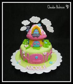 smurf cake nicole - claudia behrens | Flickr - Photo Sharing!
