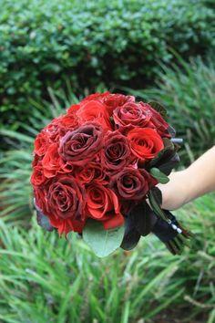 www.flowerhillflowers.com #fhflowers #bridalbqtred #blackmagicroses