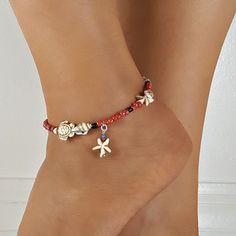 Skull Bracelet, Anklet Bracelet, Anklets, Beaded Bracelets, Ocean Jewelry, Seashell Jewelry, Beach Jewelry, Jewelry For Her, Cute Jewelry