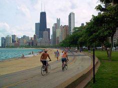 Chicago's lakefront bike trail