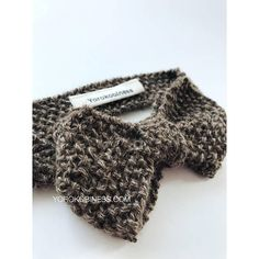 Knitted Bow Tie Pattern English and Italian Vintage Retro