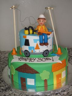 PG&E lineman cake for 30th birthday