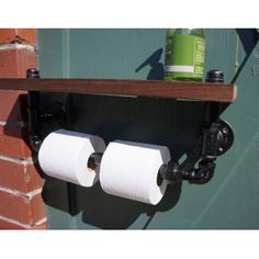 Industrial Chic Bathroom Shelf - Pinterest Rewards Collection - Dot & Bo