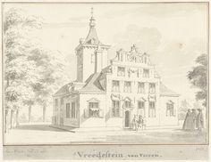 Cornelis Pronk | Het huis Vredestein bij Ravenswaaij, Gelderland, Cornelis Pronk, 1728 |