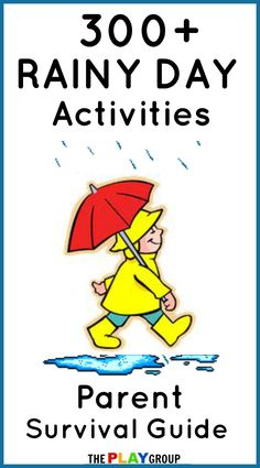 300+ Rainy Day Activities ~ Lots of crafts, games, activities and more to keeps your kids engaged and having fun on a rainy day!
