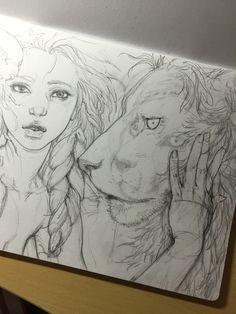手の部分が好き girl,lion