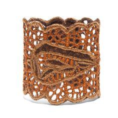 Brown Embroidered Bracelet: Handmade in Mexico - Global Goods Partners