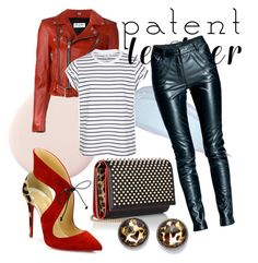 """Patent Leather"" by kaoriihayashi on Polyvore featuring Christian Louboutin, Yves Saint Laurent, Leka and Style & Co."