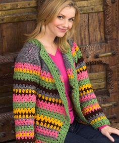 Vintage Striped Jacket - Free Crochet Pattern - (ravelry)
