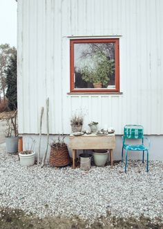 modern farmhouse yard