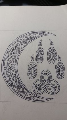 Celtic Wolf Paw and Crescent Moon by lone-wolf-wandering on DeviantArt