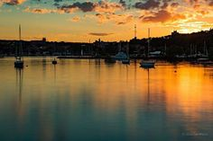 Sunset lower harbor, Marquette, MI by Dan Wilson Photography