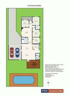 22 Turner Street, Lambton, NSW 2299 - floorplan  EXACTLY WHAT I WANT AT THE BACK