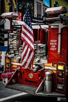 Fire Truck Stars & Stripes, NYC