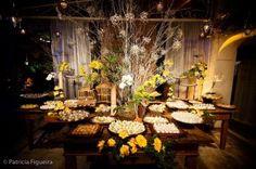 Ideias para casamentos do mundo real: Decoração: amarelo, marrom e branco