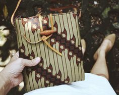 Agni Pocket Bag with Green Parang Batik Pattern #djokdjabatik