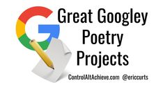 April is the time of year For kids to write a poem There's loads of fun activities Here for you to show 'em Google tools can be used To ma...
