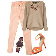 A fashion look from November 2014 featuring Topshop sweaters, Victoria Beckham jeans and ALDO sandals. Browse and shop related looks.